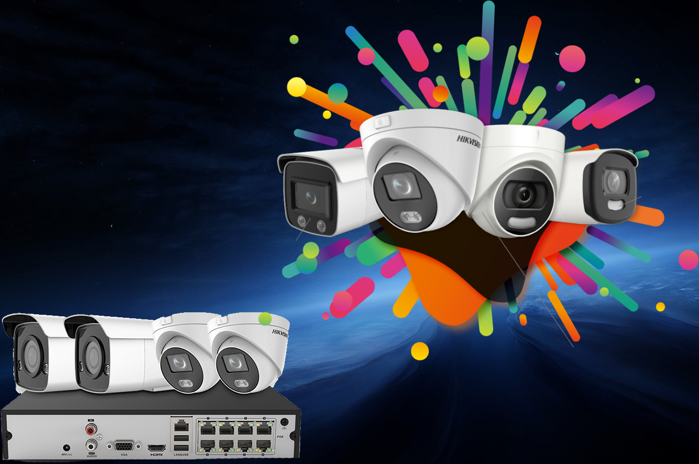Camera Kits / Packagescctv system installation  service
