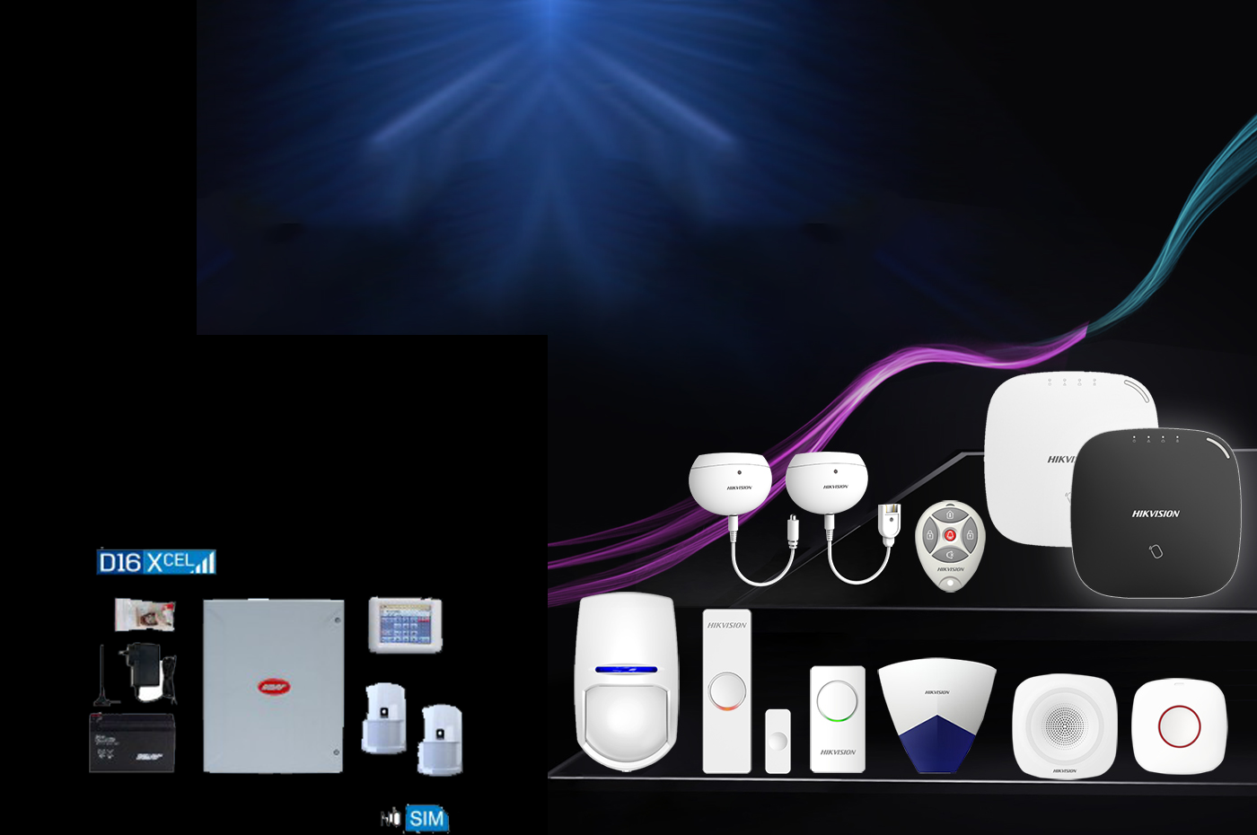 wire and wireless Security alarm Kits / Packages